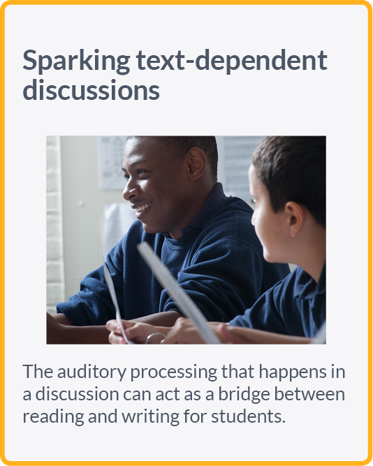 Sparking text-dependent discussions