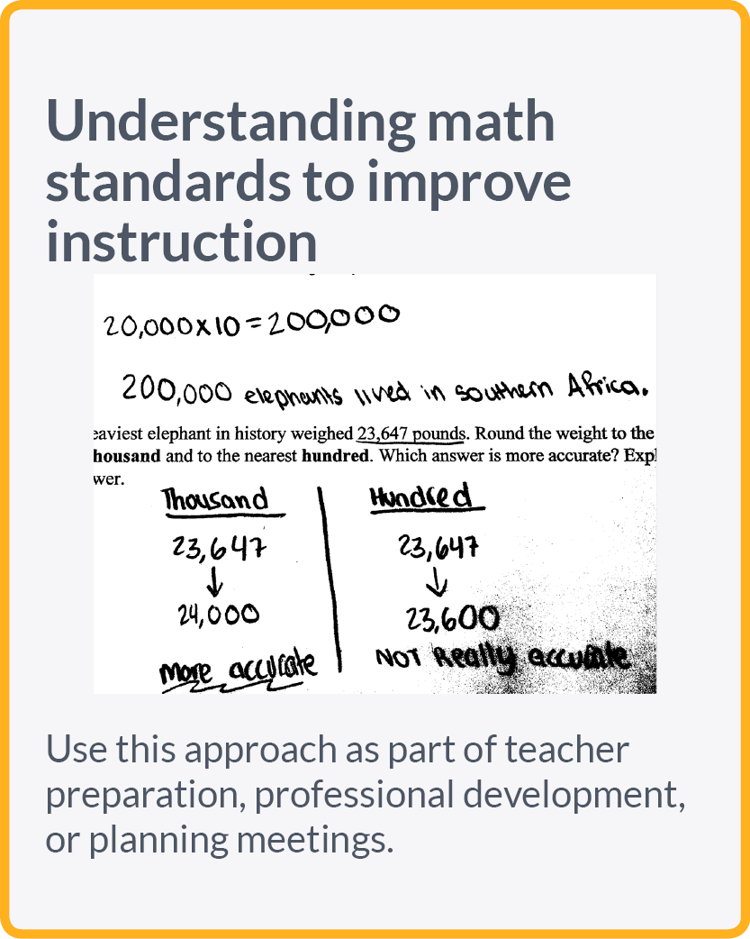 Understanding math standards to improve instruction