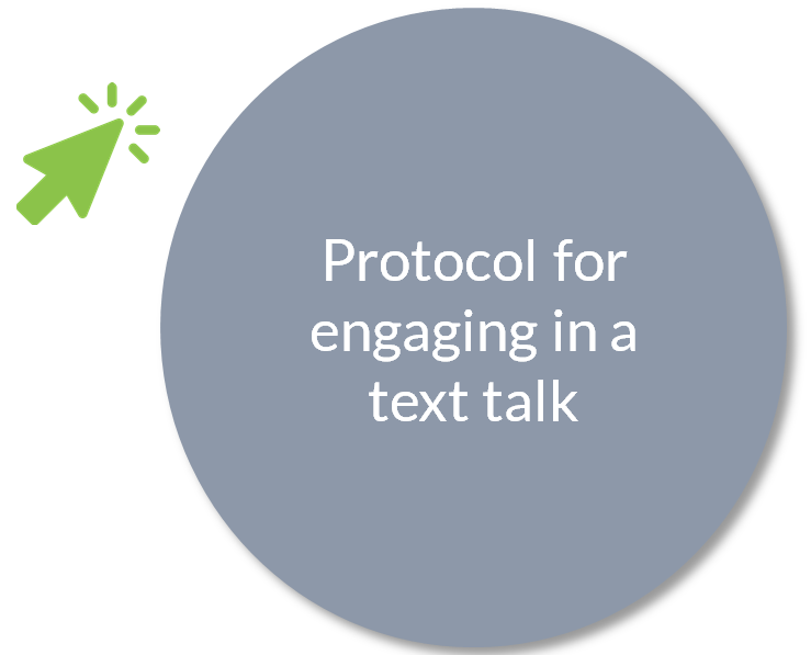 Protocol for engaging in a text talk