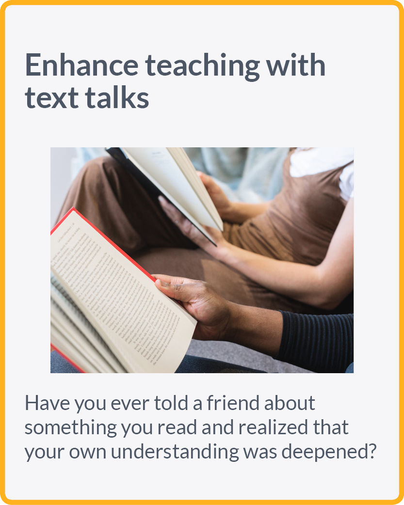 Enhance teaching with text talks