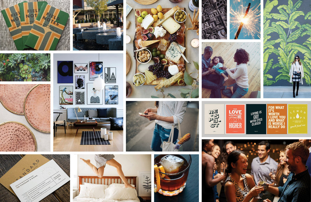 'The Maker' Moodboard is a visual touchstone for brands in the Libbie Mill - Midtown neighborhood.