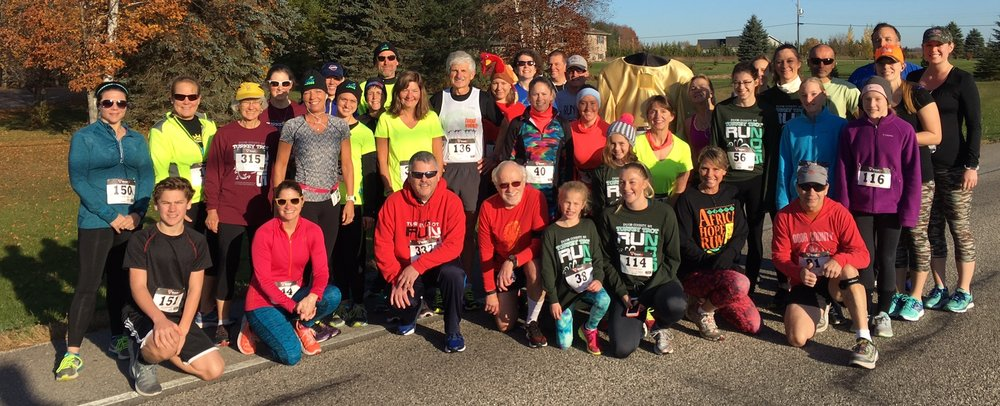 What a great turnout for the final race of 2016, the Door County Turkey Trot in Institute!