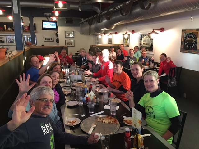 It's pizza time at Door County Fire Company after the Kickoff Fun Run on April 25 in Sturgeon Bay!