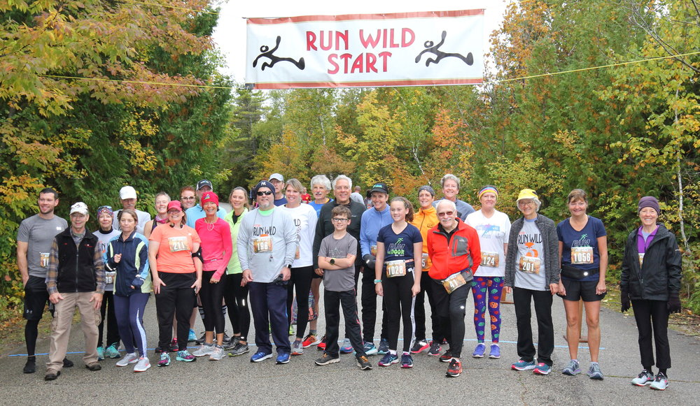 It was another great Run Wild as Run the Door entrants (not all, of course), lined up with race director Pat Saladin for the pre-race photo-op!