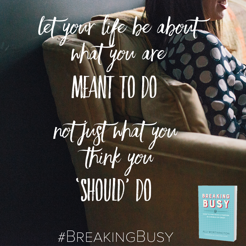 Breaking Busy Book from Alli Worthington