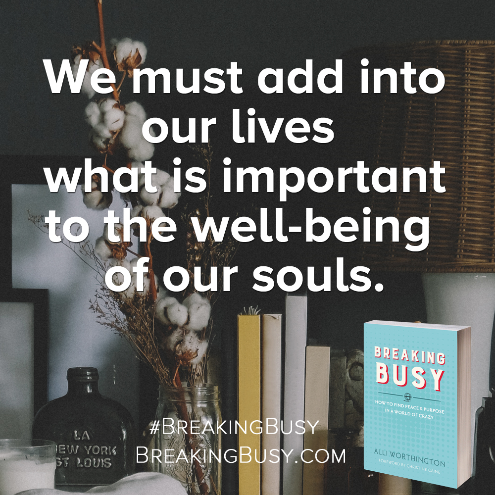 Breaking Busy book.When we focus on the good work God has planned in us, it's easier to stop doing the things that aren't beneficial for us.. Alli Worthington.jpg