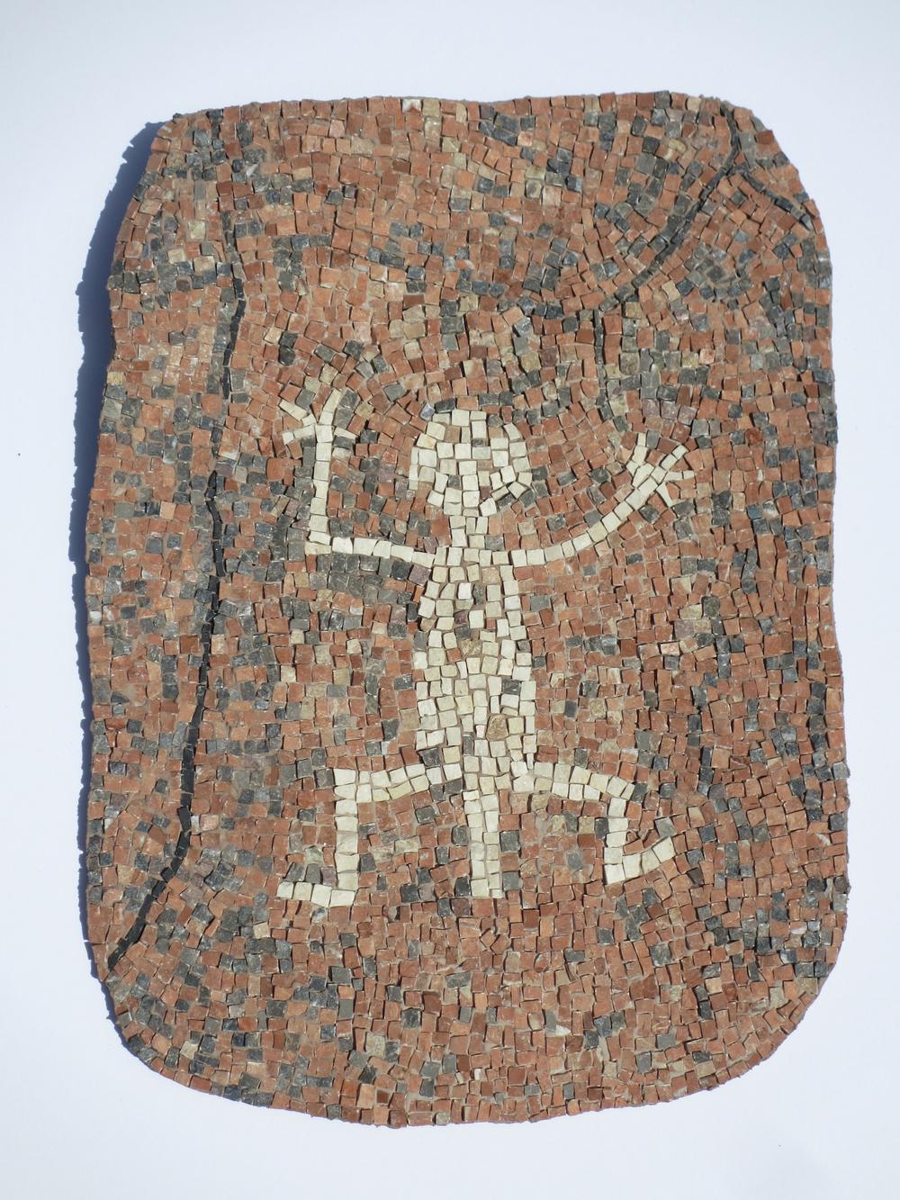 "© 2013 Julie Richey Mosaics, LLC T'ahu'u Spirit Keeper 16.5""h x 12""w  Natural Stone on hand-formed substrate $950"