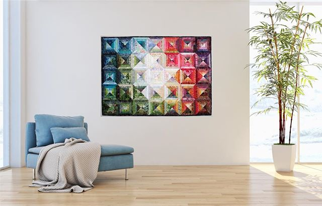 Love how this piece gives the illusion of light breaking through. Prismatic Garden by Wanda S. Hanson available until Sunday in the 10 Day Pop-Up Shop. Open until Easter Sunday. Link in profile.