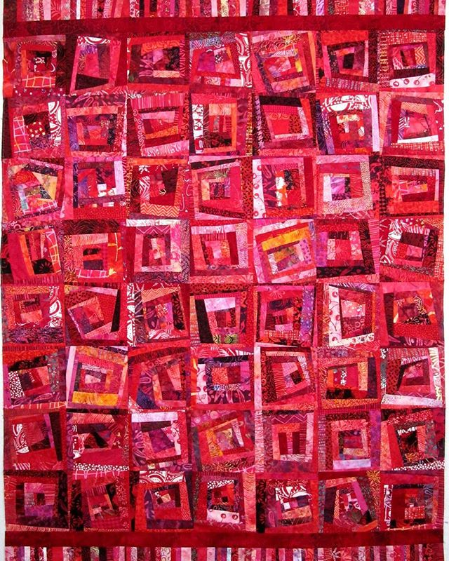 'Red Hot' Is one of the beauties available tomorrow in the Exuberant Color, 5-Day Pop-Up Shop. One-of-a-kind original Quilts by Wanda S. Hanson.
