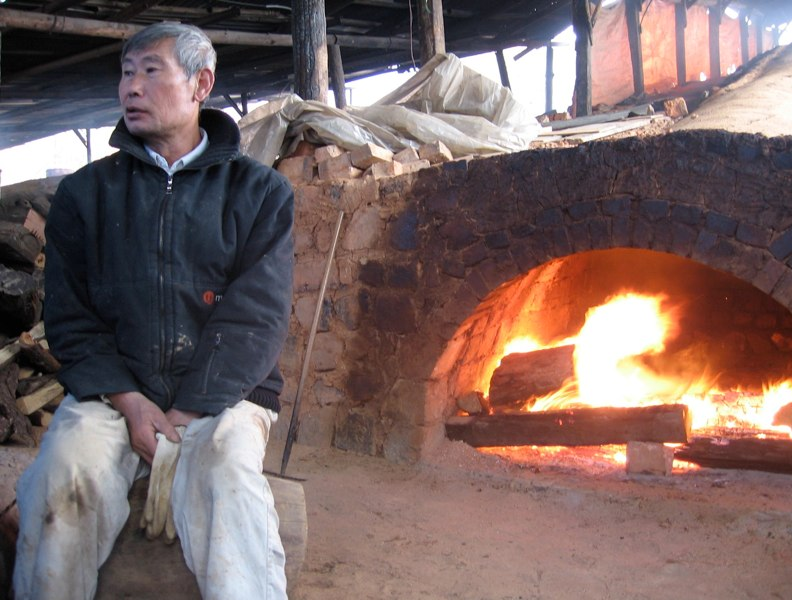 Kim Il Maan with Firing Kiln