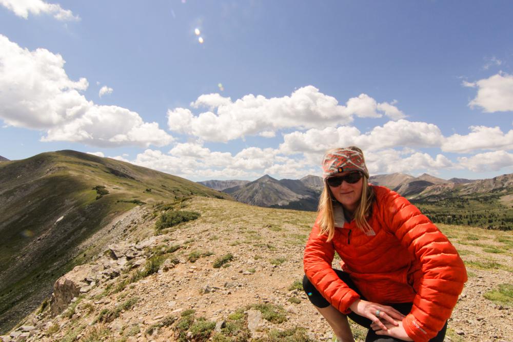 On the Contintental Divide. 12,500 Feet. Colorado