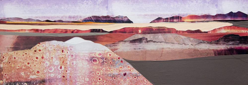 "Calcite Uplift, 12x36"". ©2014 Sarah Winkler"