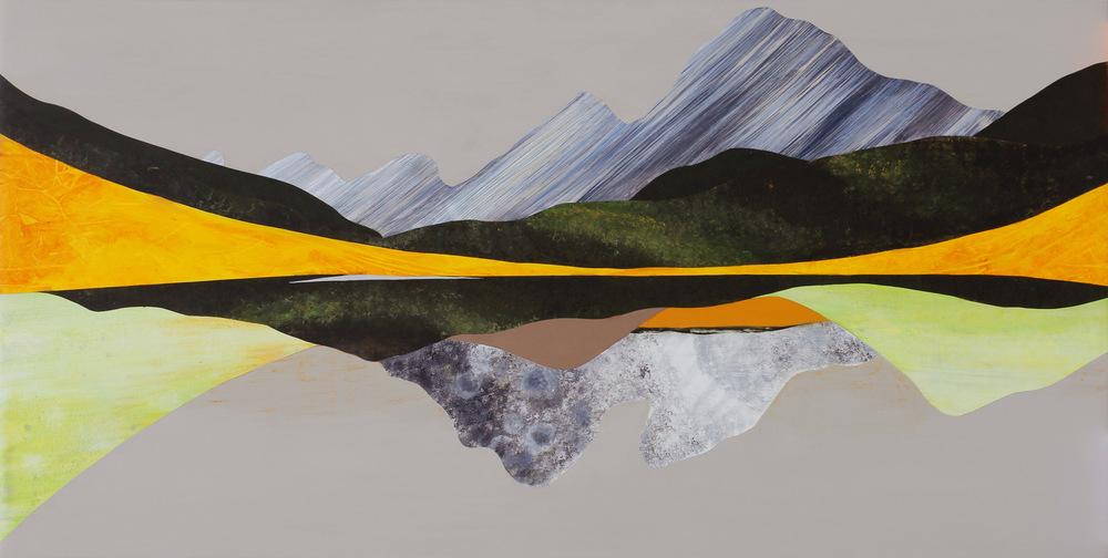 "Flatirons, 30x60"", Acrylic on Panel. ©2016 Sarah Winkler"