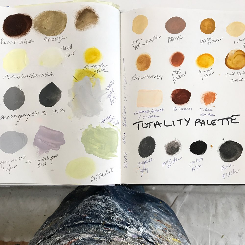 Totality Palette: a specially mixed collection of desaturated colors for the Eclipse Light series.