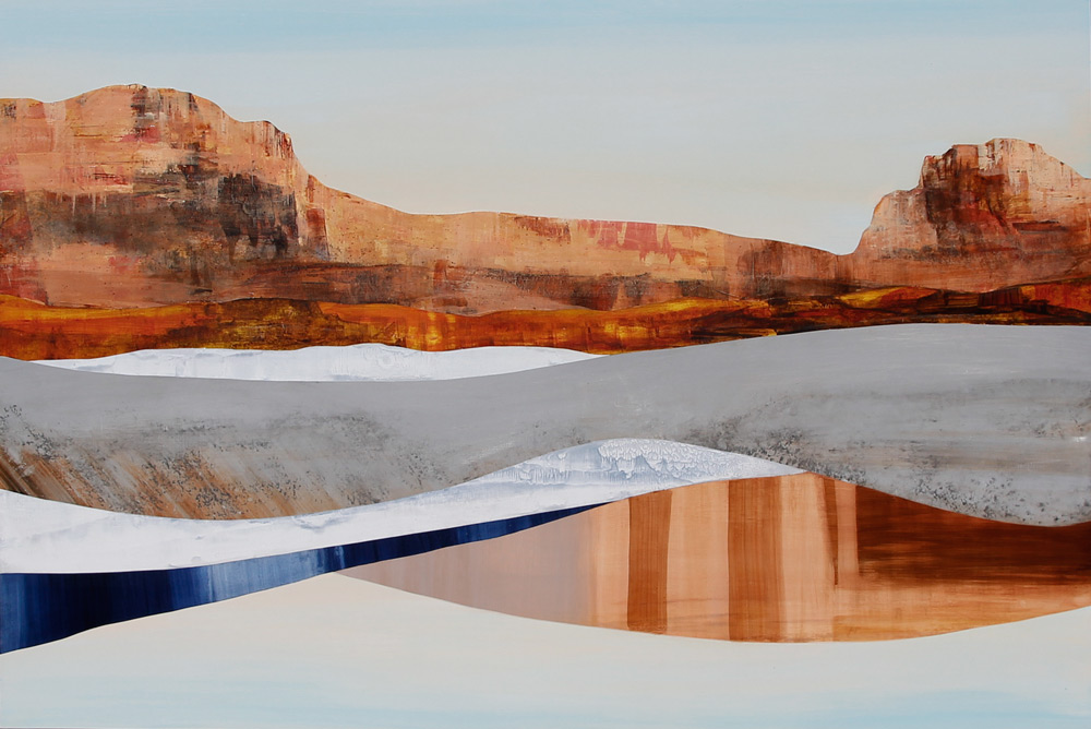 "Colorado River, 40x60"", Acrylic on panel."