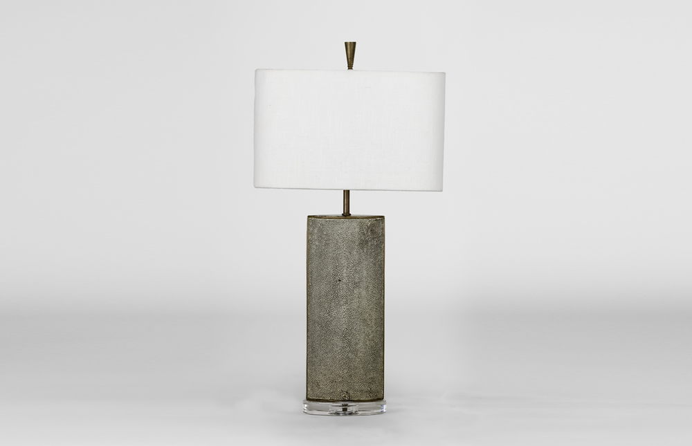 Dixon Lamp with shagreen obelisk base