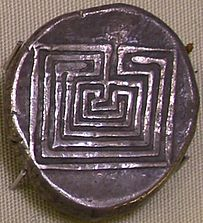 Coin from Knossos, Crete, ca 400BCE