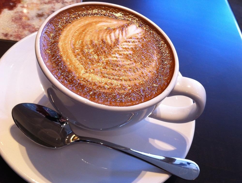 """"""" 世界一美味しいカフェオレ""""とメニューにあった"""