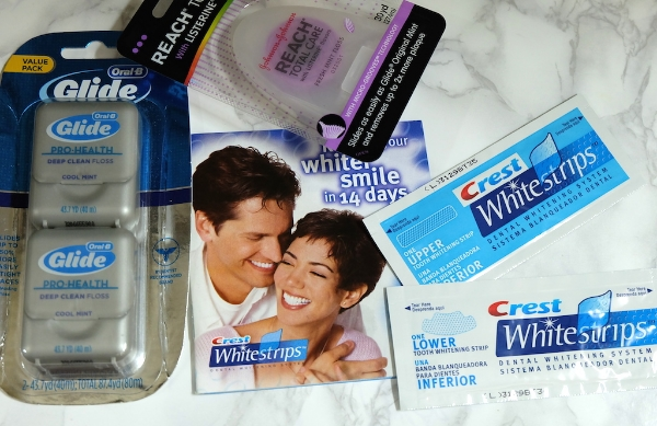 #Crest#white#strips#dental#floss