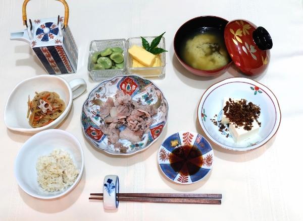 #dinner#boiled#pork#summer