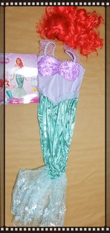 "ちなみに、今年私は、""Little mermaid"" に (^^;)     #halloween#littlemarmaid#ariel#costume"