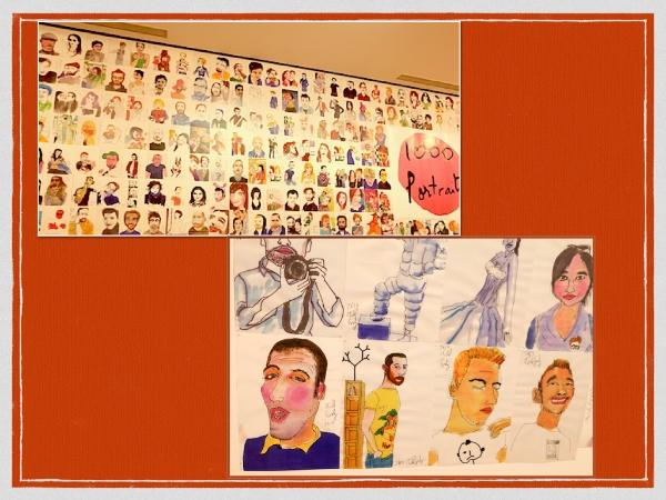 ミッシェル・ゴンドリ(Michel Gondry) の世界一周という展示。『1000人の似顔絵プロジェクト』  #museumofcontemporaryart#tokyo#michelgondry'sworld#1000portrait.