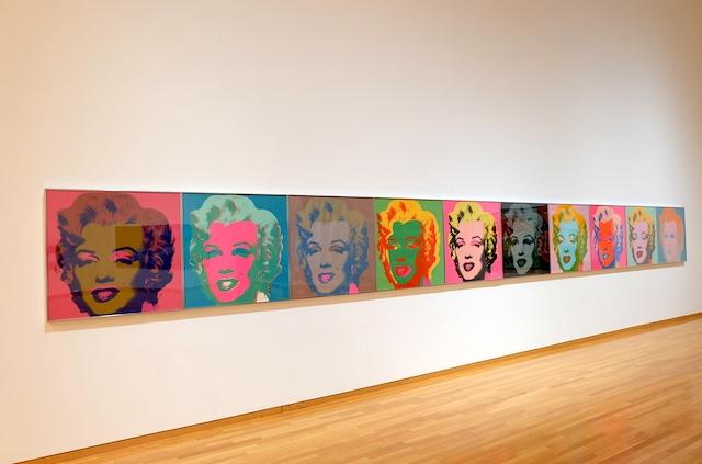 常設展示も素晴らしい。アンディー・ウォーホルの有名なシルクスクリーン『マリリンモンロー』 #museumofcontemporaryart#tokyo#andywarhol#marilynmonroe
