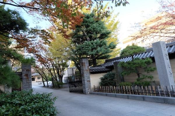 入り口の紅葉が美しく足を止めて見上げてしまう。霊厳寺   #kiyosumi#reigenji#temple#town