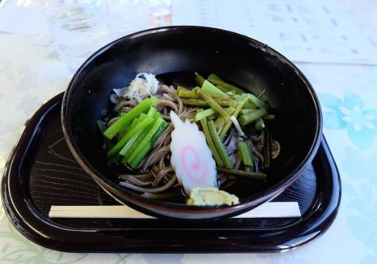 いつも楽しみな奥多摩の手打ち蕎麦。名物わさびと一緒に、美味! #sansai#soba#okutama#lunch