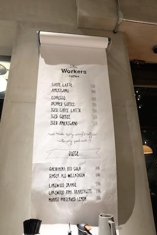 店内のめにゅ〜  #theworkers#kaminaga#coffee#stall#aobadai#restaurant