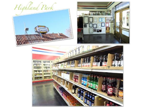 ハイランドパーク。世界中から 1400種類ものソーダとビールを集めて売っているお店。決められない。。#galocos#old#world#grocery#highlandpark
