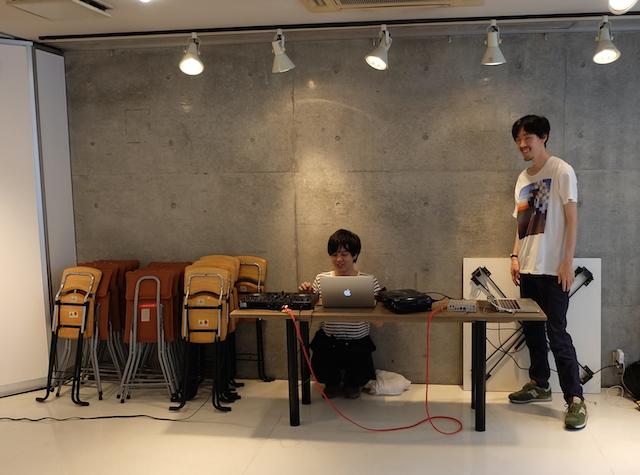 山口裕子のダンスパフォーマンスで裏方に徹してくれた音響、DJのスタッフ