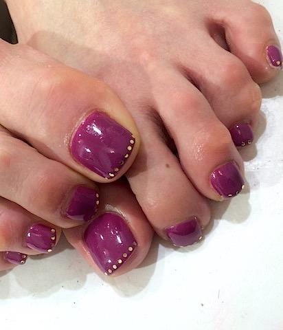指のTinted painting の色をペディキュアに。By Chieちゃん@Juno Quartzxallys hair aoyama