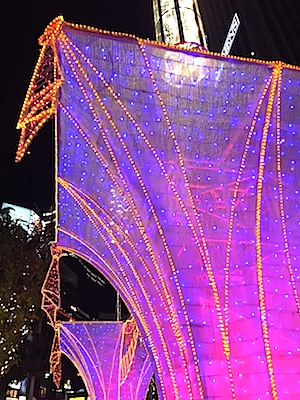 もう、クリスマスを思わせる電飾も見られた銀座の夜✨