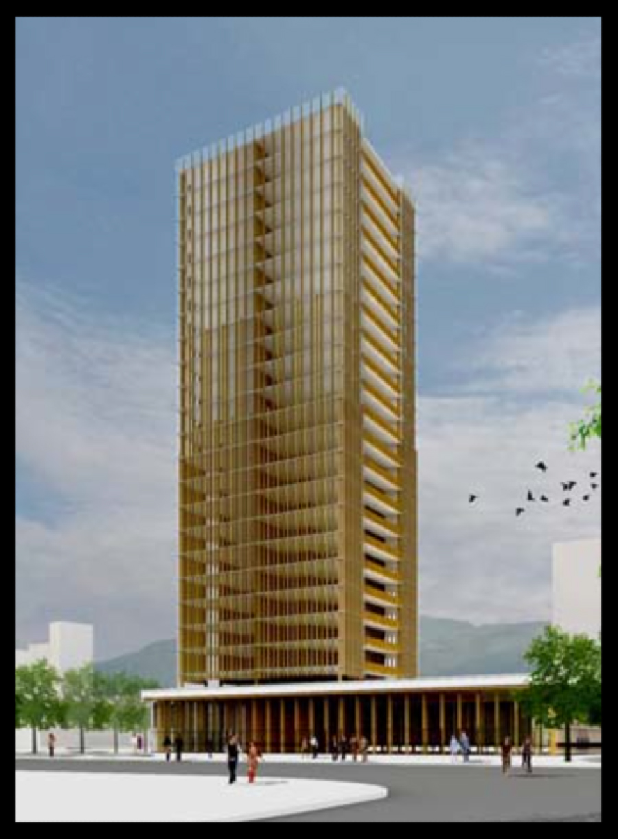 Wooden Skyscraper