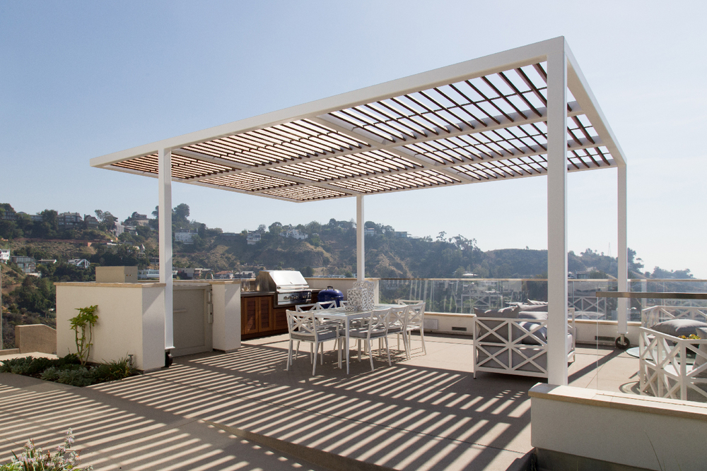 BBQ Deck, Trellis and Service Lift