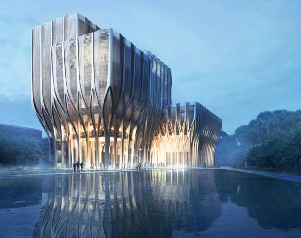 Zaha Hadid's Sleuk Rith Institute,Cambodia