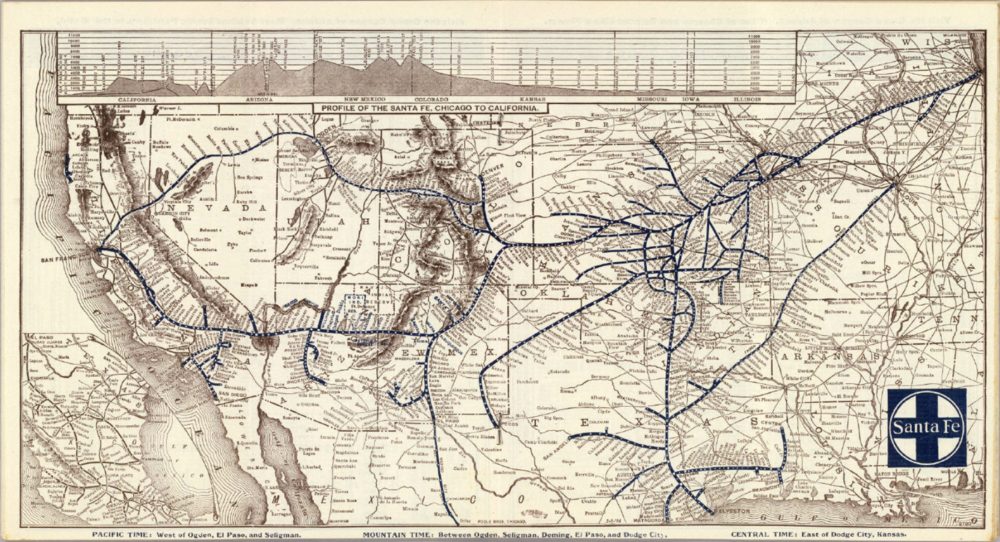 A Santa Fe Railway Map