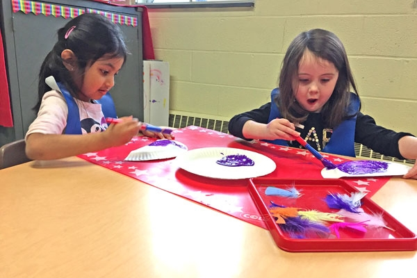 Art projects are incorporated into all of our courses, allowing students to express their ideas while also practicing their fine motor skills.