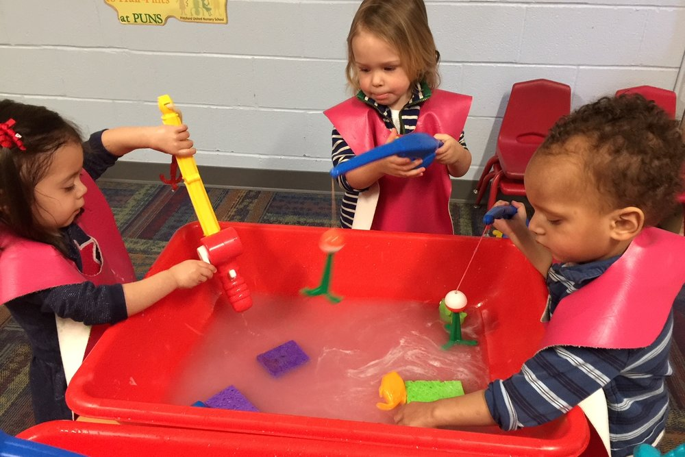 Students are encouraged to freely interact with a variety of manipulatives, creative art, sensory play areas and more, to encourage learning and development.