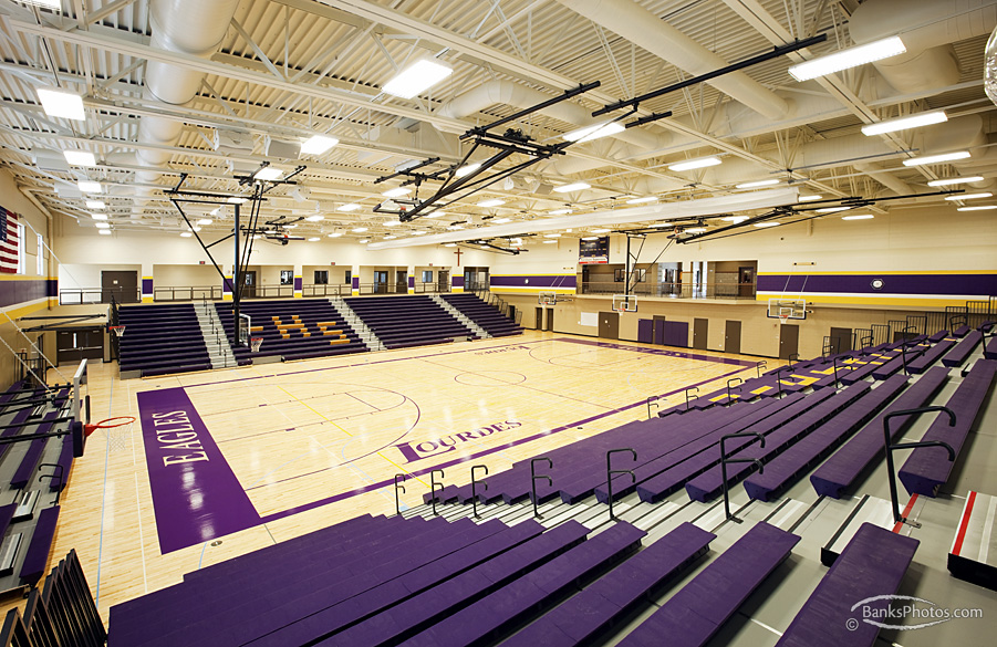 Lourdes High School Gym - Rochester, Minnesota - Weis Builders