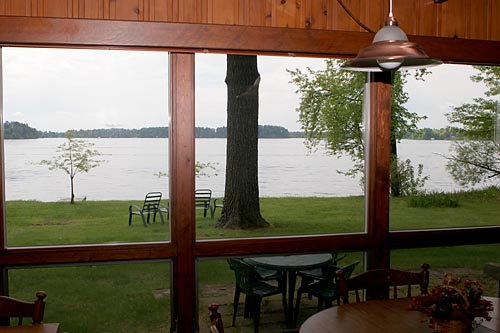 Lake view from living/dining area