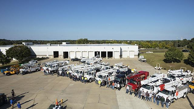 Today, line crews from more than 15 Minnesota public utilities departed  Rochester Public Utilities for Hurricane Irma relief efforts