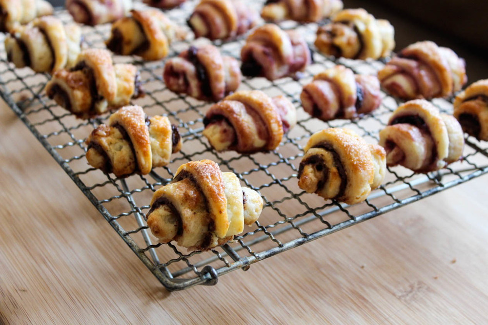 chocolate toffee & mixed berry rugelach — Mel bakes things.