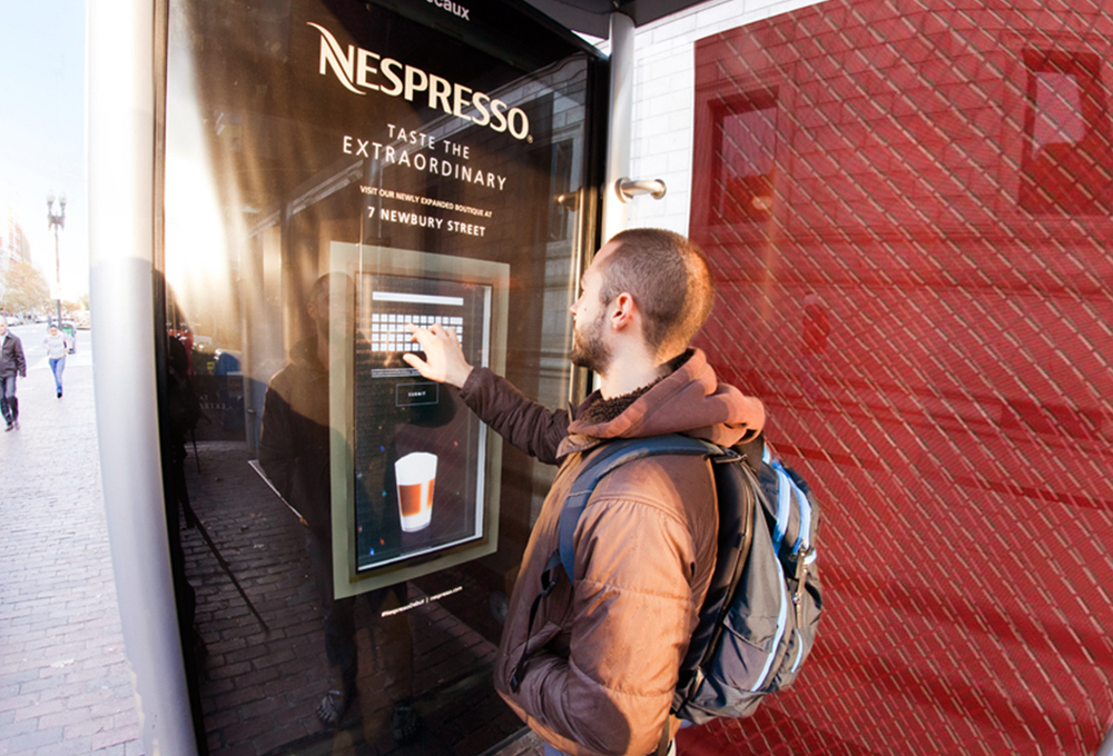 ... Nespresso Coffee Machines. From Creative Concept And Design To  Interactive Digital Display And In Market Activation, BrandTuitive Ensured  This Nespresso ...