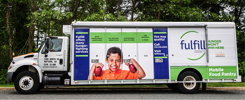 One of the redesigned Mobile Food Pantries for Fulfill