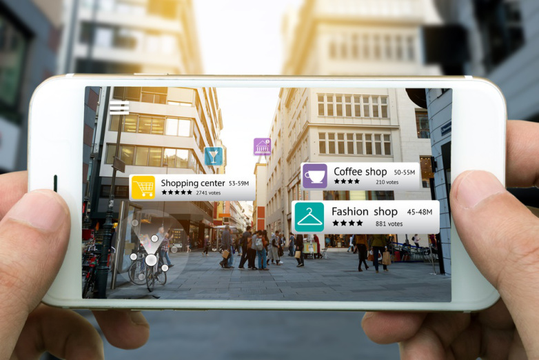 An example of how Augmented Reality is being used to promote businesses.