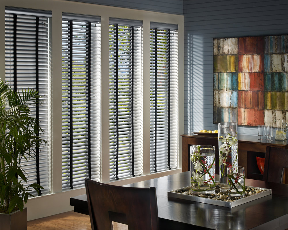 art group curtains - wooden blinds