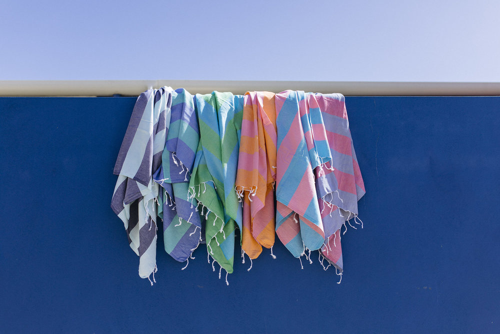 art group outdoor - beach towels