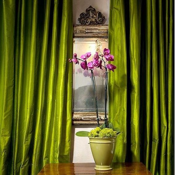 art group curtains - silk